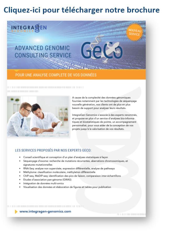 GeCo-brochure IntegraGen Genomics (French)