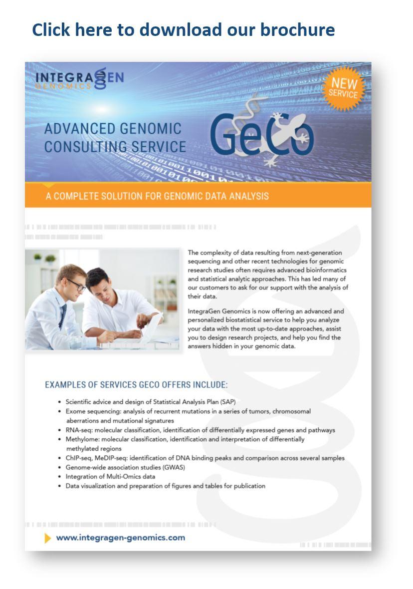 Integragen genomics GeCo link