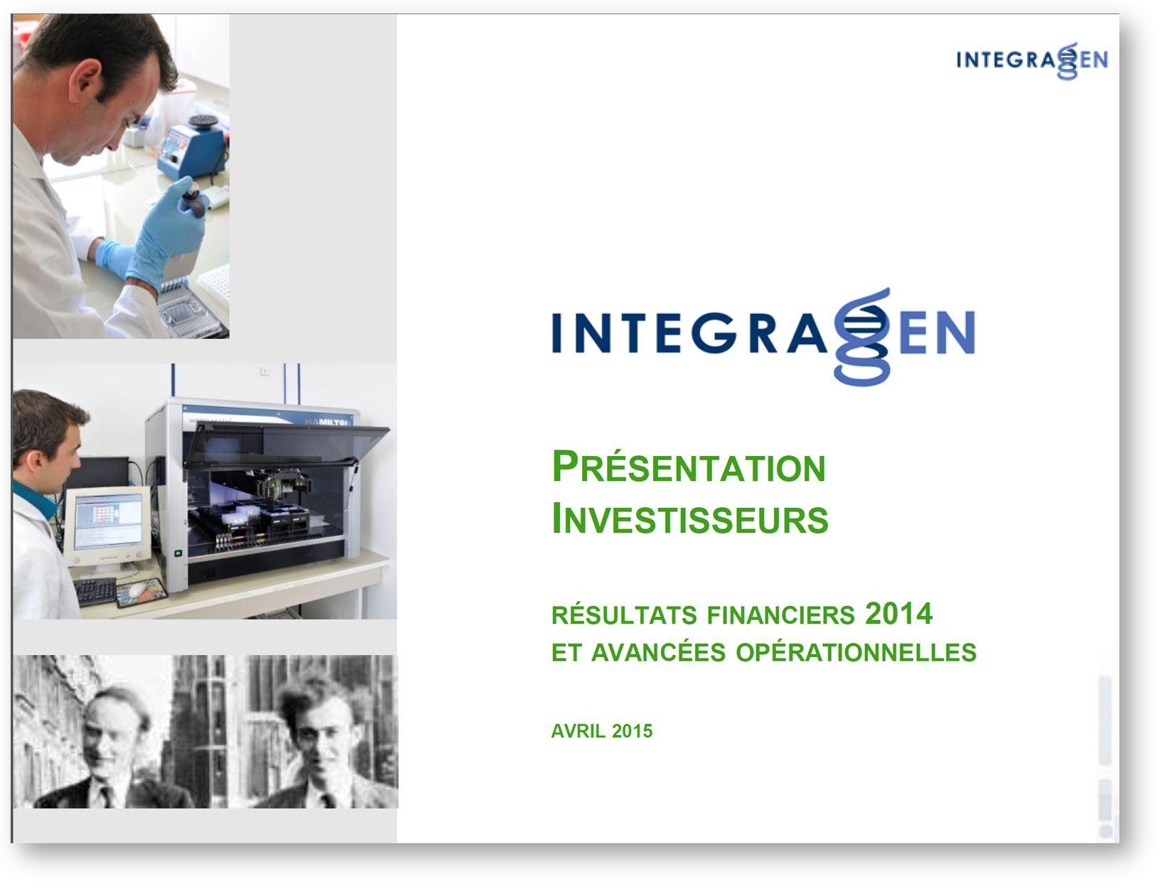 Integragen presentation investisseurs avril 2015 francais